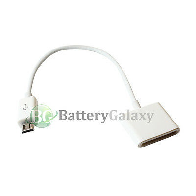 100 White Charger Adapter for iPhone 3 3GS 4 4S to Micro USB Android Cell Phone