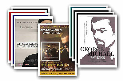 GEORGE MICHAEL  - 10 promotional posters - collectable postcard set # 3