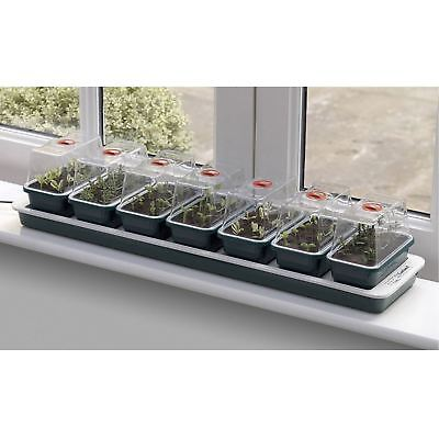 Garland G51 Super 7 Electric Heated Windowsill Propagator Plant Seed Vented Tray