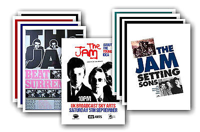 THE JAM  - 10 promotional posters - collectable postcard set # 2