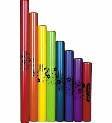 Boomwhackers BOOM-BWDG Diatonic Set of 8 Colour-Coded Tubes