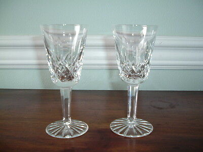 Lot Of 2 Waterford Crystal Lismore Sherry Glasses 5 1/8""