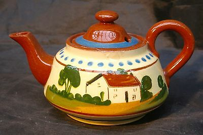 Royal Watcombe Torquay Devon Ware  MottowareTeapot, Everything has a bright side