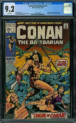 Conan the Barbarian 1 CGC 9.2 - White Pages