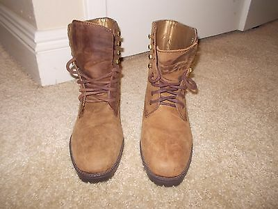 FanFares 6.5 Paula NEW Lace Up Boots Suede LEATHER Women's Display #80960-8 L@@K