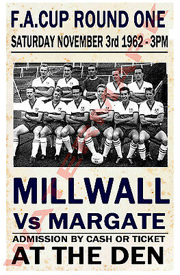 Millwall - Vintage Football Poster POSTCARDS - Choose from list
