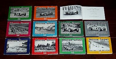 11 Volumes - MOTOR SPORT RACING CAR REVIEW 1948-1958 by Jenkinson - HB with DJs