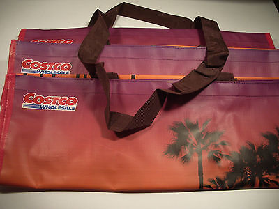 THREE (3) Reusable COSTCO 20x14 reuseable grocery school shopping travel bag