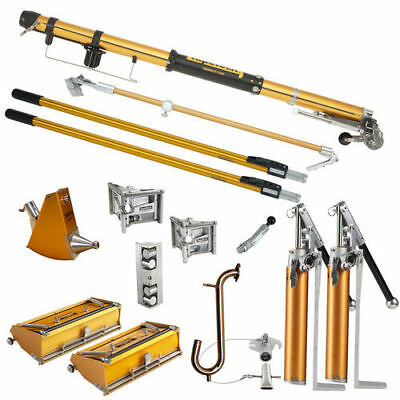 TapeTech TTSFS2 Standard Full Drywall and Taping Tool Set with 2 Pumps New