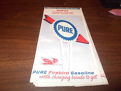 1966 Pure Oil Norfolk/Hampton Roads Vintage Road Map