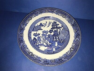 "5 Wedgwood BLUE WILLOW Pattern Ironstone 10"" Dinner Plates Made in ENGLAND"