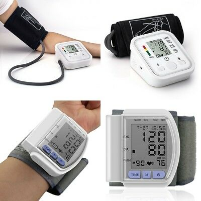 Auto Digital Arm/Wrist Voice Blood Pressure Monitor Home Machine Pump Pressure