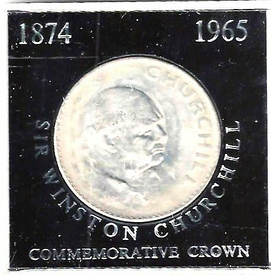 Great Britain - Churchill Commemorative Crown, 1965 - Unc., Mounted As Seen