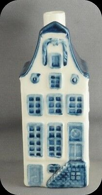 KLM Blue Delft Miniature House Decanter #9 Made for KLM By Rynbende Distilleries