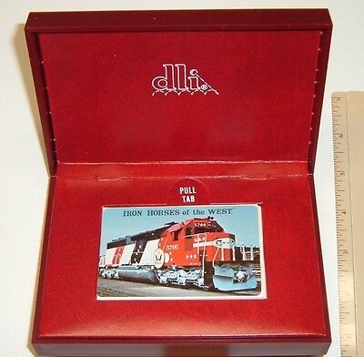 Vintage New in Box! IRON HORSES OF THE WEST Railroad -  deck of Playing Cards