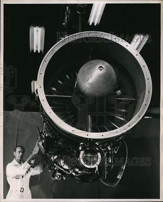 1951 Media Photo General Electric Company's New Jet Engine The J-47-GE-21