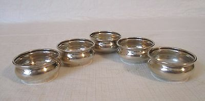 set of 5 Sterling salts by Whiting salt cellars