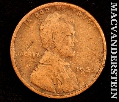 1922-D Lincoln Wheat Cent- Semi Key !! Better Date !! #r3778