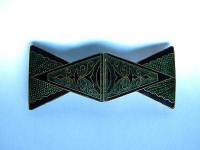 Antique ? Art Deco Green Enameled Belt Buckle Made in Germany