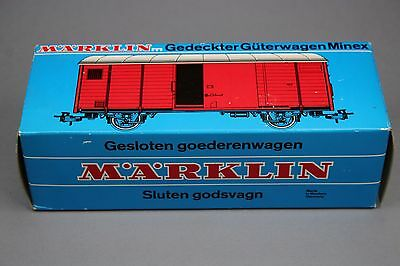 X731 Marklin Minex Oe rare wagon 4454 Closed Goods Car blue 1971 1972 porte