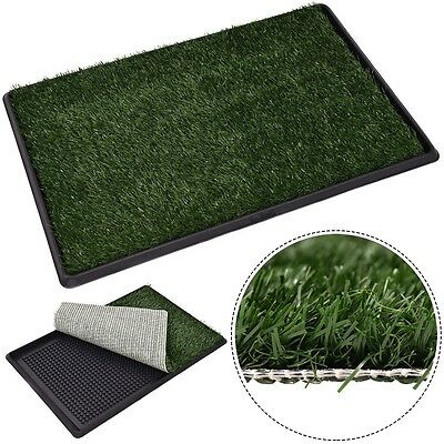 "Outdoor 30""x20"" Puppy Pet Dog Potty Training Pee Toilet Grass Pad Mat Turf Green"