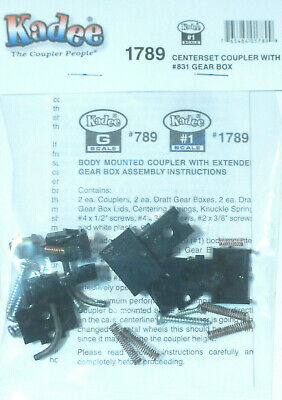 Kadee #1789 (#1 Scale) Centerset Coupler with $831 Gear Box (1 Pair)
