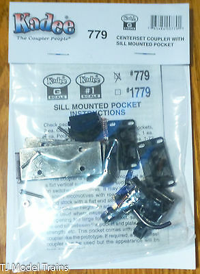 Kadee #779 (G Scale) Centerset Coupler with Sill Mounted Pocket (1 Pair)
