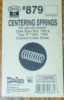 Kadee #879 (#1 Scale) Centering Springs for use w/Kadee Older Styel #820,920 &