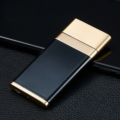 Black Gold USB Electronic Rechargeable Battery Fashion Cigarette Lighter