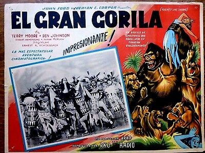 MIGHTY JOE YOUNG 1949 Horror Mexican Sci-Fi Lobby Card TERRY MOORE King Kong