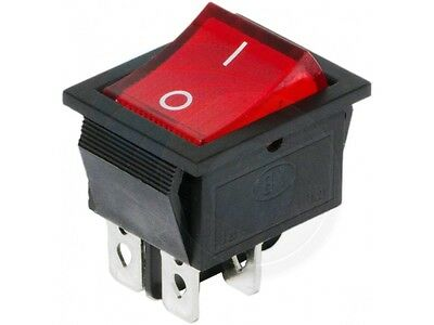 Red Button On-Off 4 Pin DPST Boat Rocker Switch 16A 250V 20A 125V AC