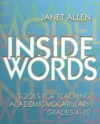 Inside Words: Tools for Teaching Academic Vocabulary, Grades 4-12 [With CDROM] b