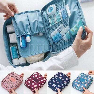 Travel Cosmetic Bag Makeup Case Multifunction Organizer Toiletry Zip Wash Pouch