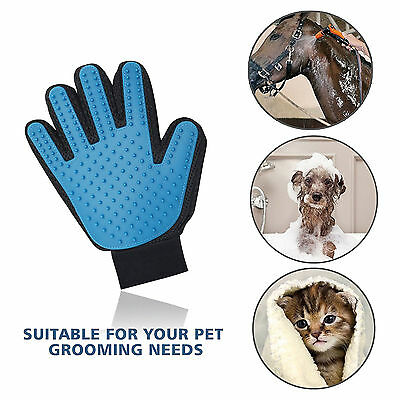 New Pet Touch Grooming Massage Hair Removal Bath Brush Glove Dog Cat Hair Comb S