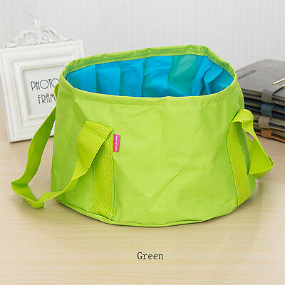15L Outdoor Basin Folding Collapsible Camping Washing Water Pot Bag Bucket 7774