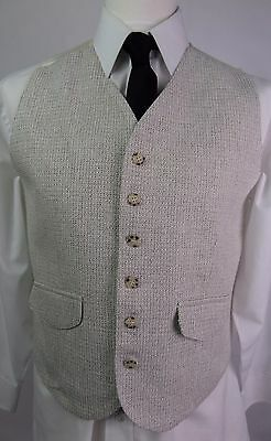 Vintage Mens Single Breast  High Fit Multi Tone Casual Waistcoat -38 Short- DX95