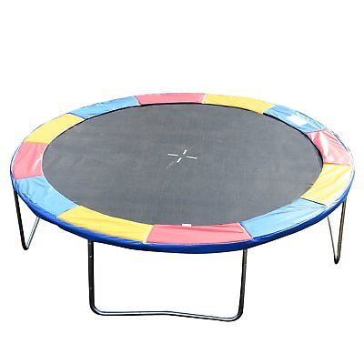 Soozier 14' Trampoline Pad Safety Mat Round Enclosure Frame Replacement