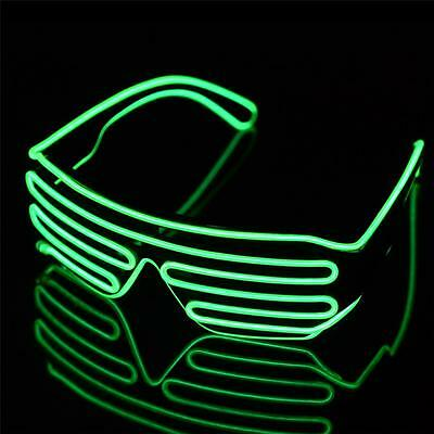 Sound Activated Remote Control Green LED Light Flash Glasses for Party Concert