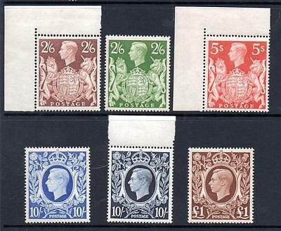 KGVI MNH 1939-48 SG476-478c HIGH VALUE SET OF 6