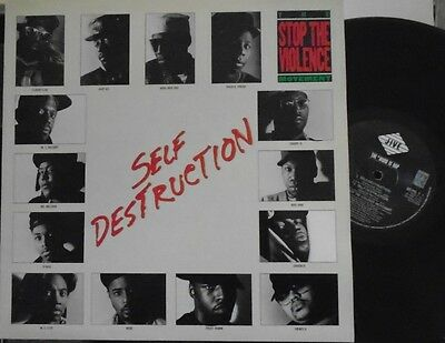 "STOP THE VIOLENCE MOVEMENT ~ Self Destruction ~ 12"" Single PS"
