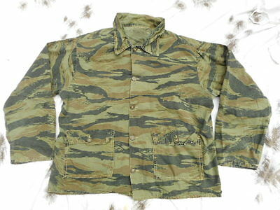 ORIGINAL VINTAGE 1970S USA made Vietnam War US SF TIGER STRIPE COAT JACKET BDU