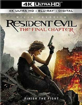 Resident Evil:final Chapter - Blu-Ray Region 1 Free Shipping!