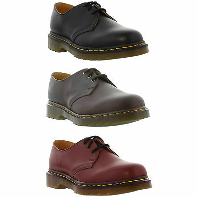 DR Martens 1461 Z Mens Womens Classic Black Red Leather Shoes Size 3-13