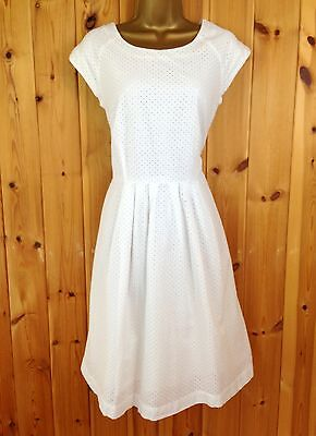 White Company Skater Summer Party Evening Summer  Wedding Races Dress UK Size 14