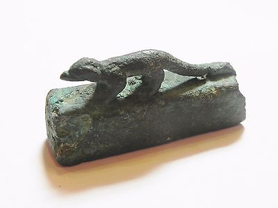 Zurqieh - Ancient Egypt , Bronze Sarcophagus Of A Shrew Mouse. 600 - 300 B.c