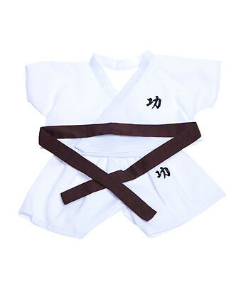 "Karate Gi Outfit with coloured belts Teddy Bear Clothes to fit 8""-10"" bears"
