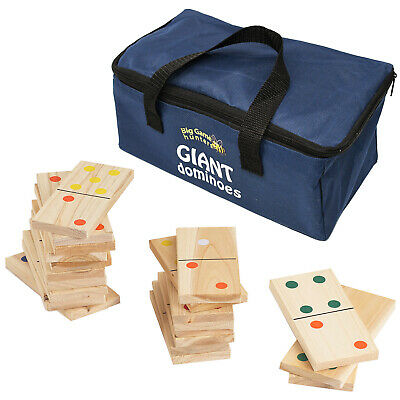 Garden Games Giant Wooden Dominoes in a Bag Outdoor Toy