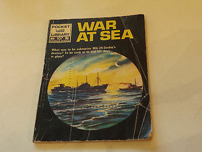 POCKET WAR PICTURE LIBRARY,NO 107,1970`S ISSUE,FAIR FOR AGE,44 yrs old,R COMIC.