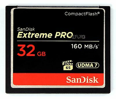 SanDisk ExtremePro 32GB CF memory card SDCFXPS-032G G Extreme Pro 32 GB 160MB/s