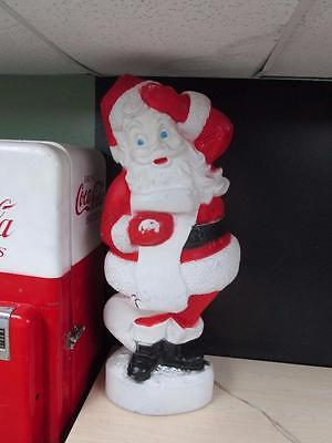 "Vintage 44"" Union Christmas Santa With List Lighted Blow Mold"
